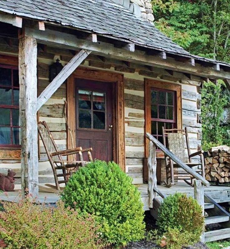17 best images about 3rd garage on pinterest storage for Log cabin porch
