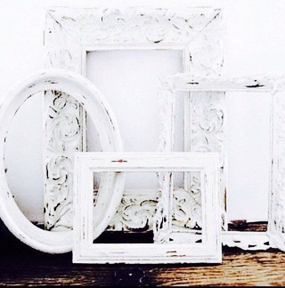 Ornate Picture Frames Shabby Chic Wedding by LondonGraceBoutique