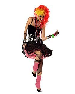 80s Party Girl | Cheap 80's Cindi Lauper Halloween Costume for Women