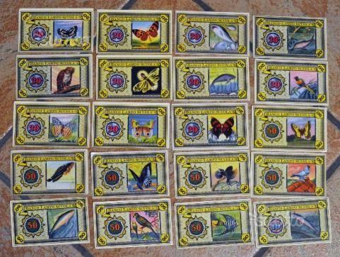"""Nel lotto sono presenti 67 banconote """"libere"""" + 20 Lampo plastificate e pronte per esser esposte"""
