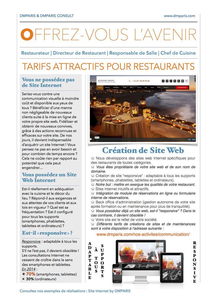 Création de Site Web Internet pour Restaurant…