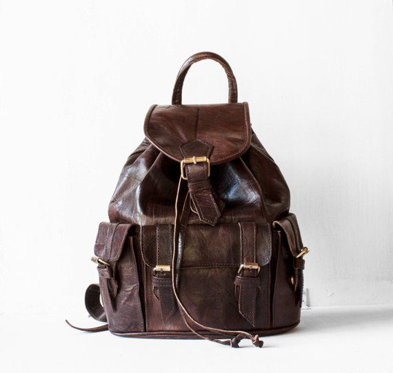 Leather Backpack in Dark Chocolate / Leather Backpack / by morelle
