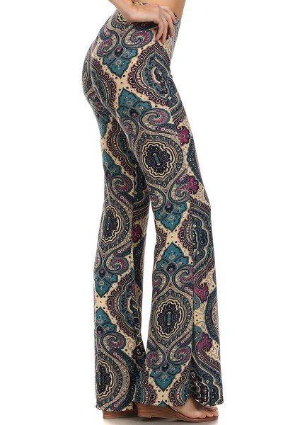 Wide Leg Paisley Print Pants. Perfect for fall #shopimpromptu