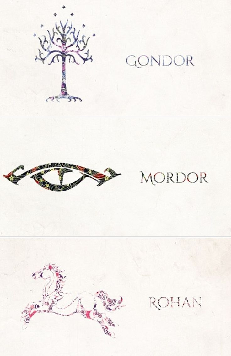 Symbols of Middle-earth.