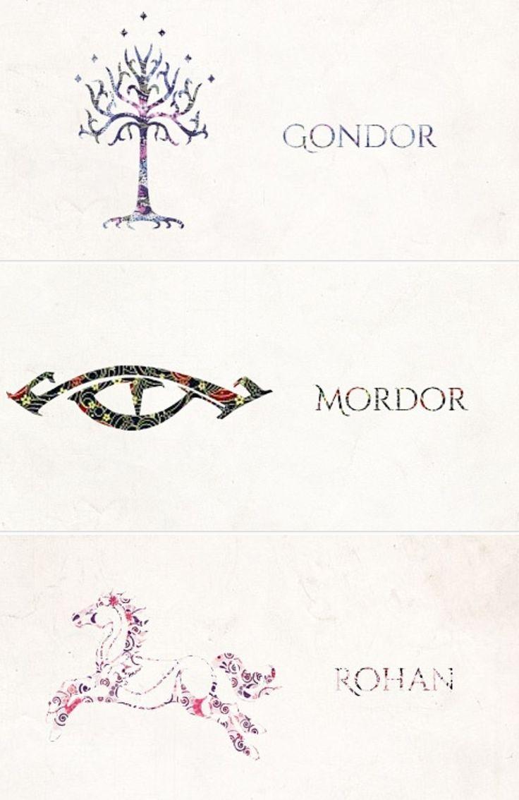 Gondor, Mordor,  Rohan