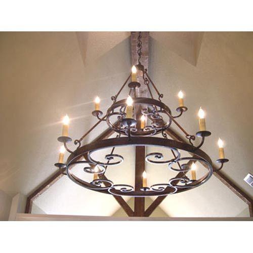 Medallion two tier twelve light chandelier santangelo lighting design candles without shad