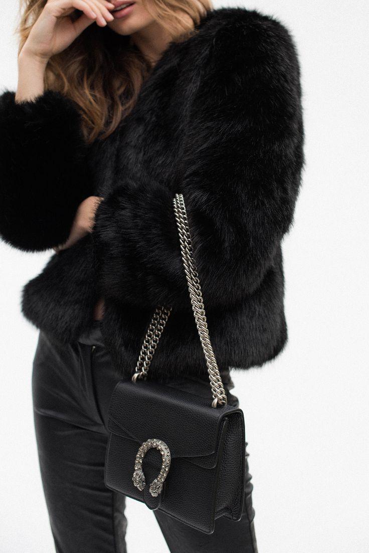 Aki Faux Fur Jacket - Noir – Style Addict