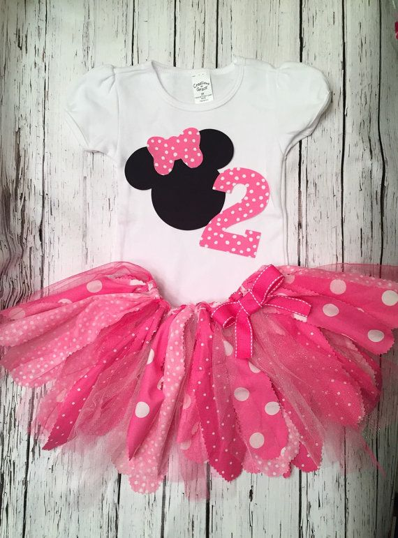 Minnie Mouse Birthday Outfit. Minnie First by TennybugBoutique