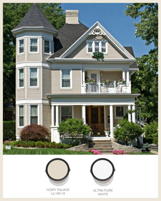 Behr Ivory Palace Ultra Pure White Exteriors
