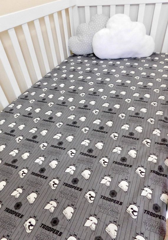 Star Wars crib sheet, Stars Wars Baby sheet, Star Wars crib bedding, Star Wars baby gift, Star Wars Troopers nursery bedding.
