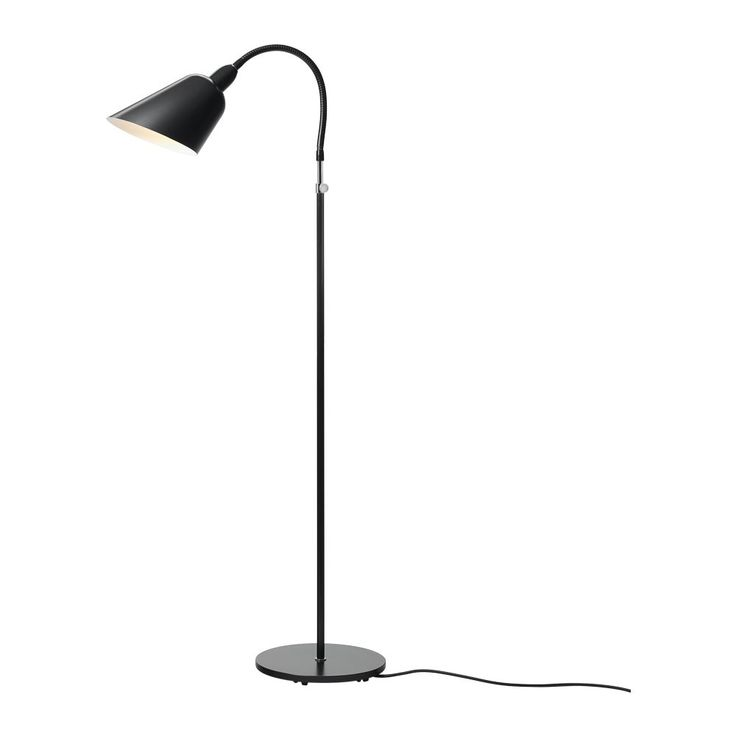 & Tradition Bellevue Floor Lamp AJ2 Matt Black   Houseology