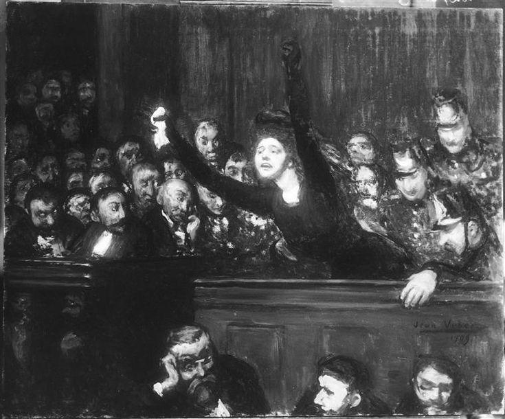 """""""Cour d'assises"""" de Jean Veber (1868-1928). Paris, agence photo RMN-Grand Palais, fonds Druet-Vizzavona - Photo (C) RMN-Grand Palais / François Vizzavona / reproduction RMN"""
