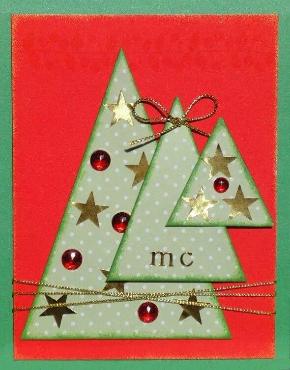 Открытку для, своими руками сделать открытку новогоднюю