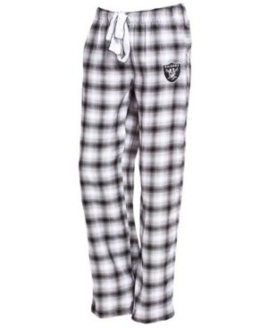 Concepts Sport Women's Oakland Raiders Forge Flannel Pants - Gray XL