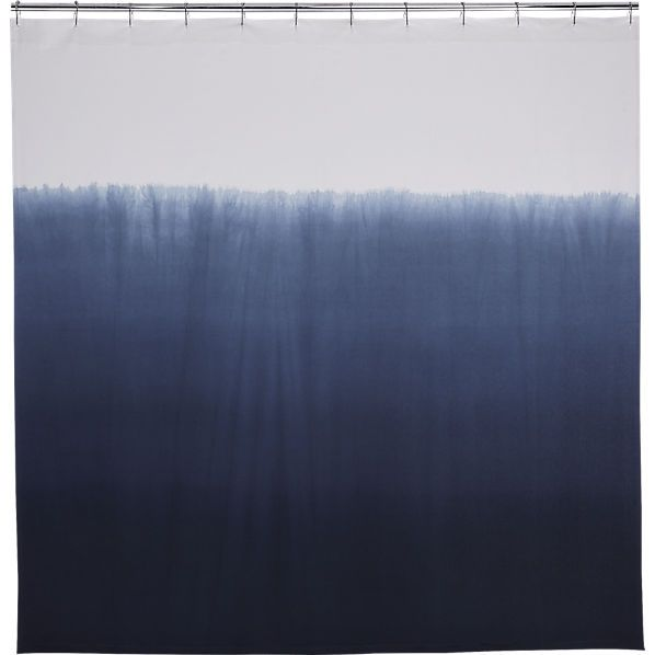 blue ombre shower curtain  | CB2