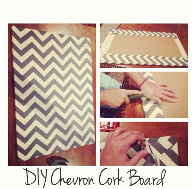 how to put fabric on cork board