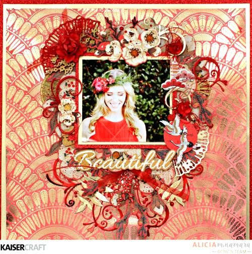Hanami Garden Layout with Foil Specialty Paper Layout