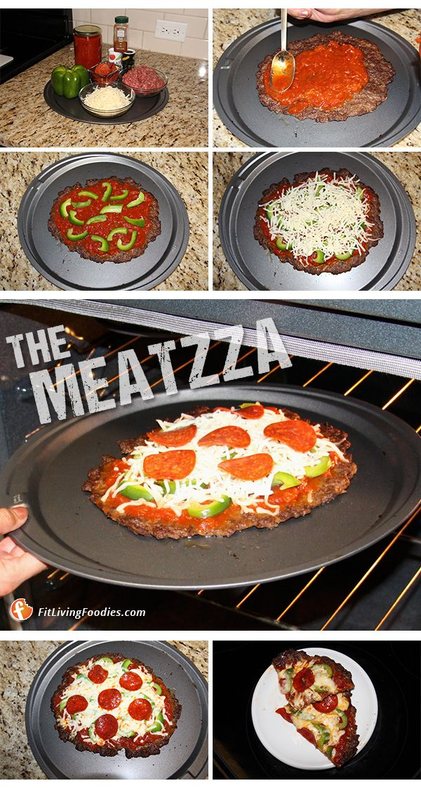 Ultra Low-Carb Burger Pizza aka Meatzza #transformingrecipes #recipe #dinner