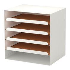 IKEA - KVISSLE, Briefablage, Ausziehbare Fächer erleichtern den Zugang zu Papieren.Eine Korkschicht sorgt dafür, dass Papiere nicht verrutschen.Lässt sich auch seitlich stellen für senkrechtes Ordnen von Papieren.