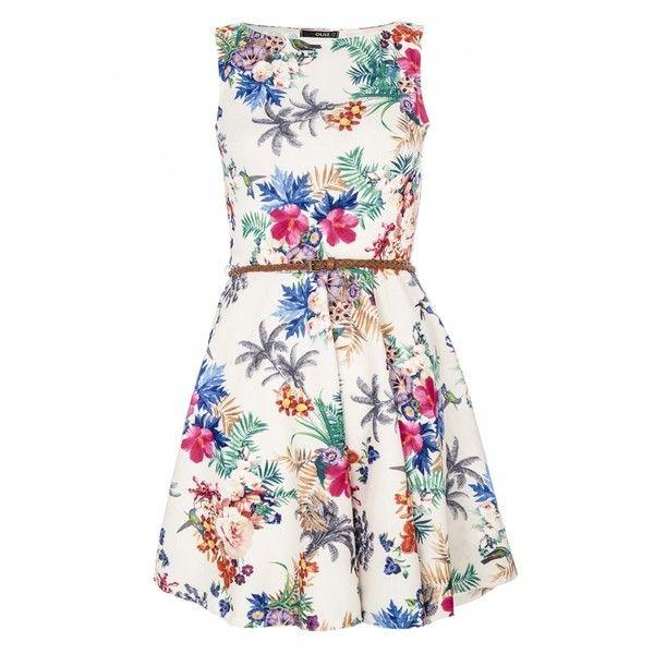 Multi Coloured Flower Print Skater Dress ($18) ❤ liked on Polyvore featuring dresses, vestidos, short dresses, white skater dress, skater dress, multi color dress, multi-color dresses and white floral print dress