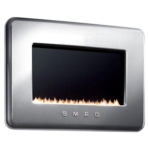 Buy Smeg L30FABSIP Flueless Gas Fire, LPG, Silver Online at johnlewis.com