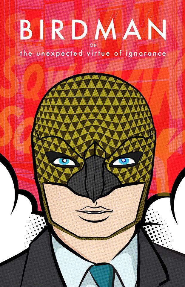 Os Melhores Filmes indicados ao Oscar 2015 em cartazes no estilo Pop Art - Birdman - Pôster por Odes Roberts shutterstock-oscar-pop-birdman