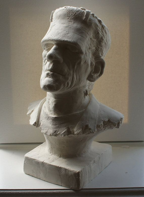 Awesome Monster of Frankenstein Bust, One of a Kind in ...