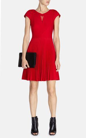 Sunray pleat skirted dress