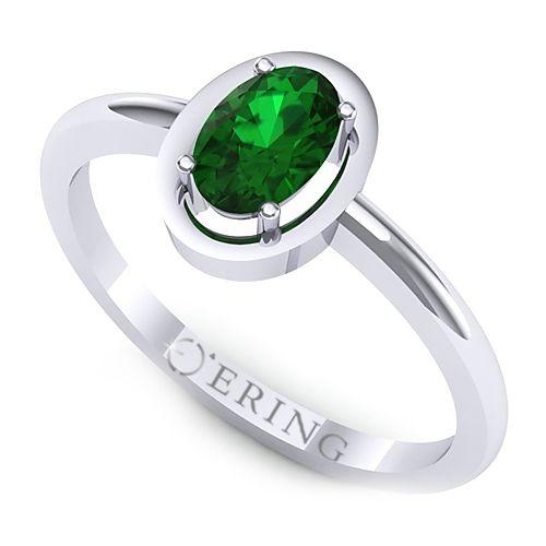 Inel logodna L16ASM inel cu smarald