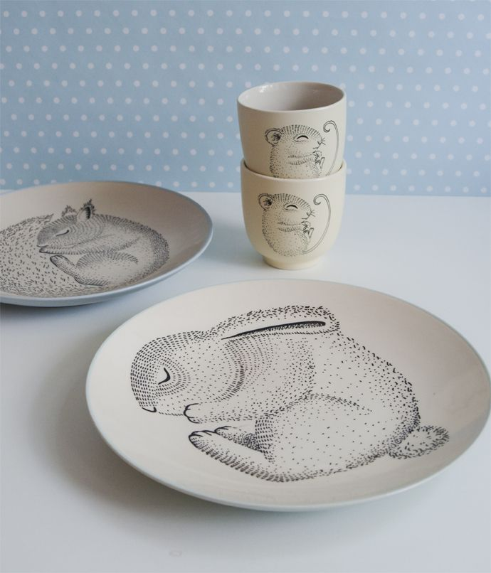 Bring happiness to the table with Adelynn tableware from Bloomingville Mini