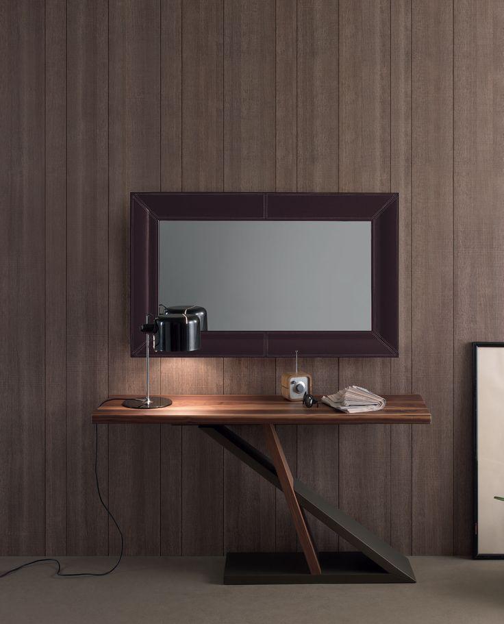 Miroir rectangulaire en cuir ESTASY