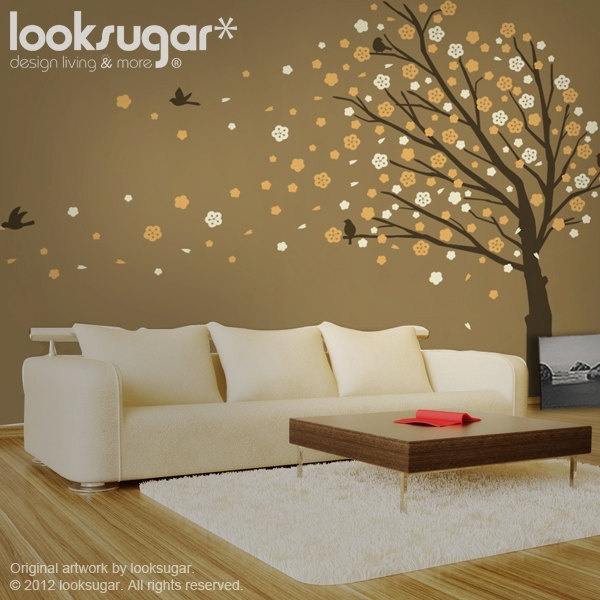 Best Cherry Blossom Wall Decal Images On Pinterest Babies - How to put up a large wall sticker