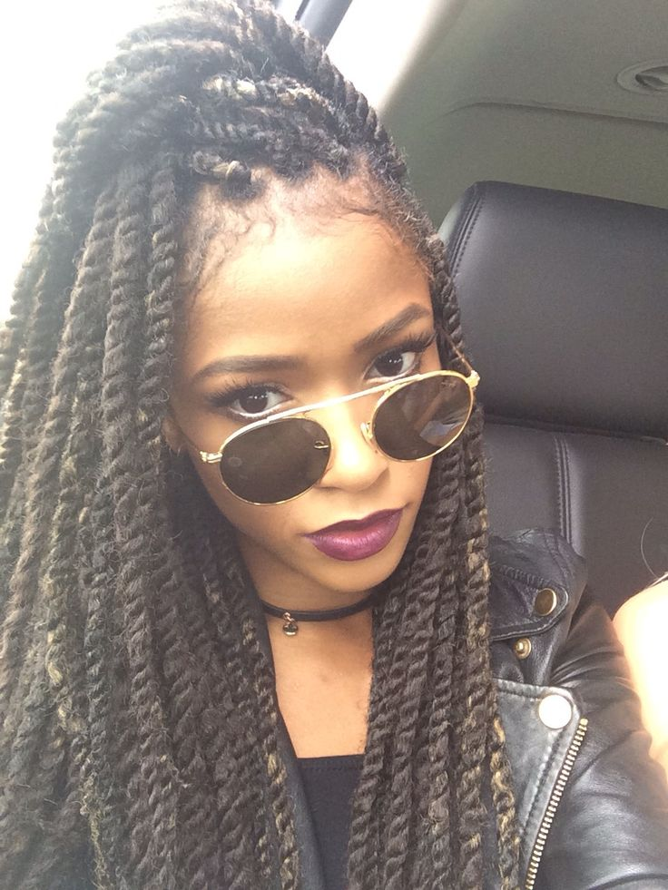 afro hairstyle, afro twists, black girl, black womens inspiration