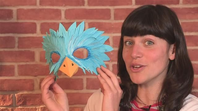 How To Make A Bird Mask | pooh kids | Pinterest