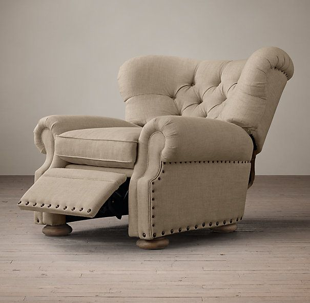 Churchill Upholstered Recliner with Nailheads...this may be the only recliner I have ever liked!