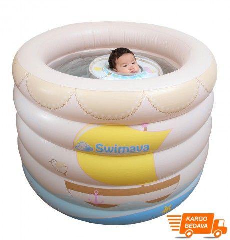 İçindekiler : Swimava bebek havuzu, pompa, kullanım kılavuzu Ebatları : 80 cm yükseklik,...