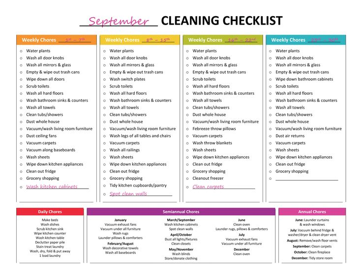 Cleaning Checklist Best Weekly Cleaning Checklist Ideas On