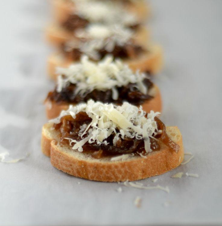 Coco Loco Porter Caramelized Onion Crostini
