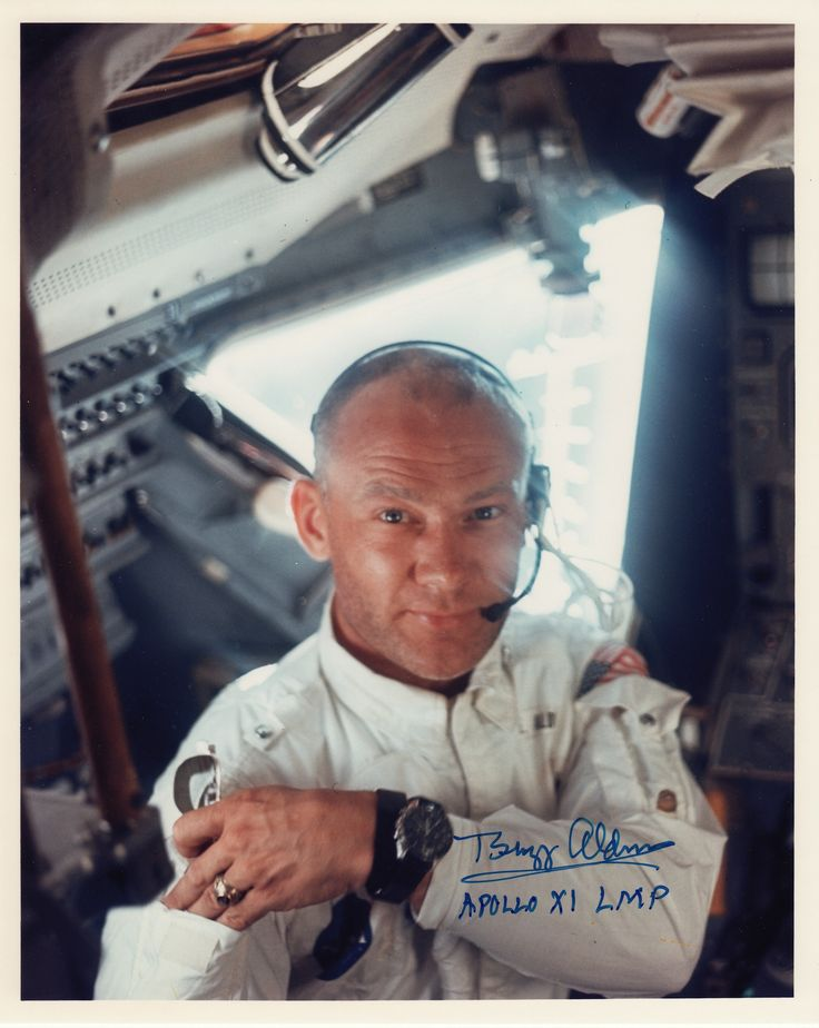 This excellent photograph of Buzz Aldrin was taken by Neil Armstrong in 1969, aboard the Apollo 11 Lunar Module just before they landed on the surface of the moon.