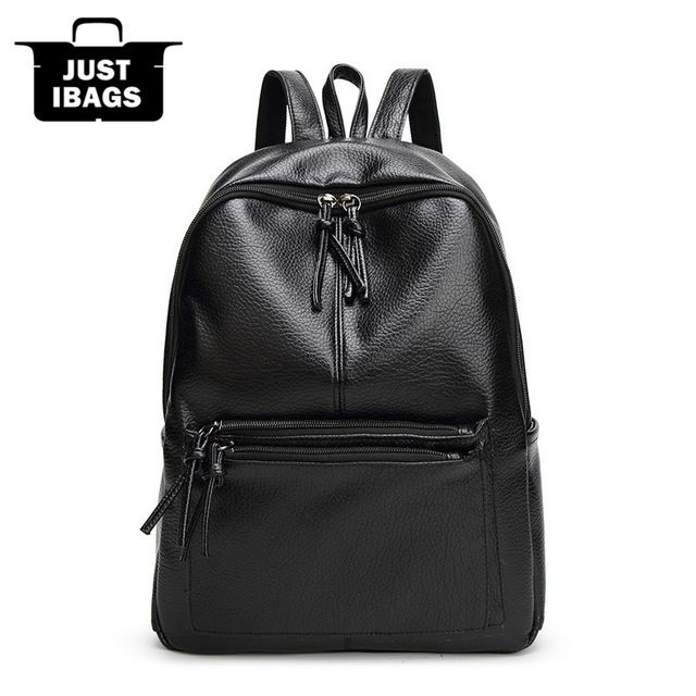 Preppy Style women Backpack High Quality PU Leather Casual handbags, double shoulder for College Students High Capacity Backpack Laptop