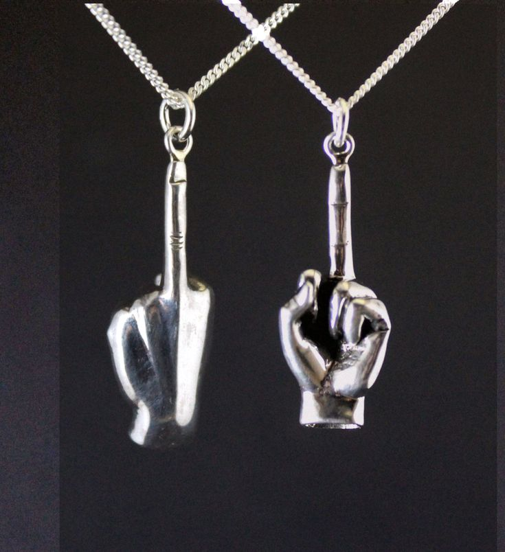 BLACKFRIDAY Fuck off jewelry, fuck off charm, fuck you middle finger shove it pendant, up yours sterling silver, rebel jewelry - $47.60 USD