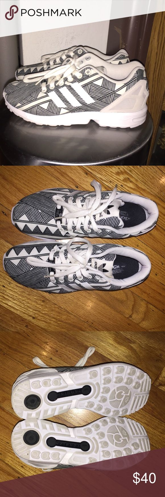 Adidas ZX Flux Torsion worn twice but they were a size too big lmao Adidas Shoes Sneakers