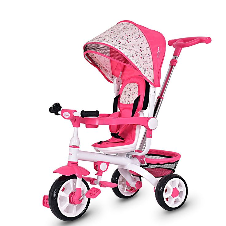 4in1 Detachable Baby Stroller Tricycle with Round Canopy