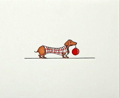Festive dachshund. #dachshund #bauble #christmas