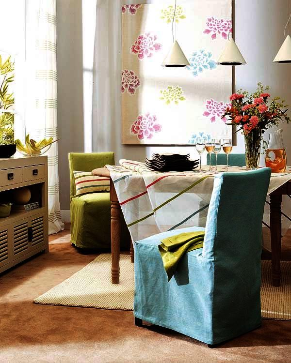 Cortinas y fundas para sillas: Home, Ideas For, Para Silla, Curtains, Cases, For, Las Sillas, Funda Para, Salons