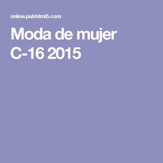 Moda de mujer C-16 2015