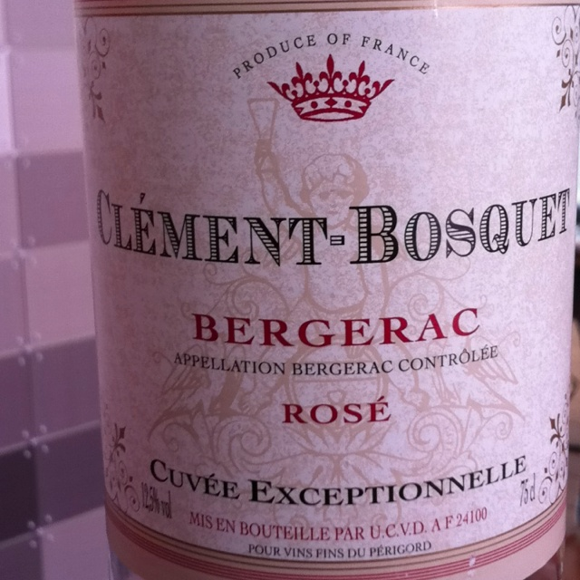 Nog een rosé uit Bergerac. Clément-Bosquet. 11 augustus 2012.  ****