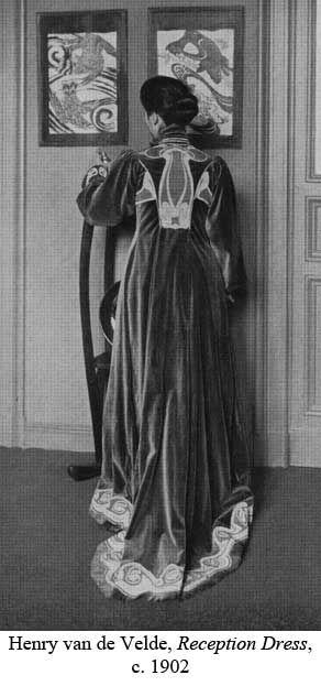 c1902.  Reception Dress, Henry van de Velde. Decoration using soutache.