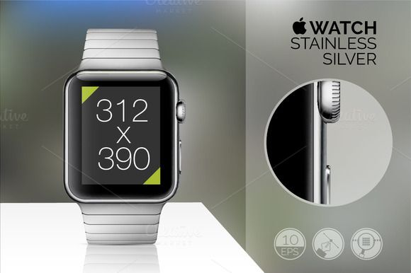Apple Watch mockup set [Full].vector Vector illustrations of great quality with easy editable features. User's guide on the first preview( just click on it and scroll down). Includes Apple Watch cases: - SPORT silver - SPORT black - STAINLESS - STAINLESS black - yellow GOLD - rose GOLD #mockup #iphone #iwatch #mockupiwatch #mockupsiwatch #mockups #iwatchmockups, #iwatchpsd #iwatchpsdmockups