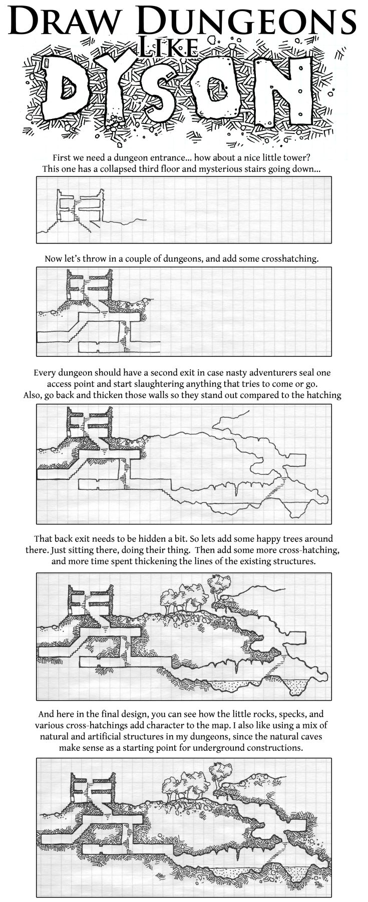 draw dungeons like dyson - Game Design Ideas